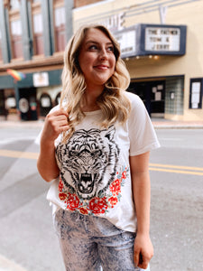 Eye of The Tiger Embroidered Tee