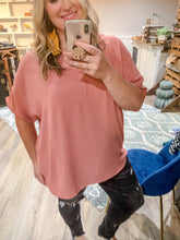 Load image into Gallery viewer, Curvy Simple Short Sleeve Tunic