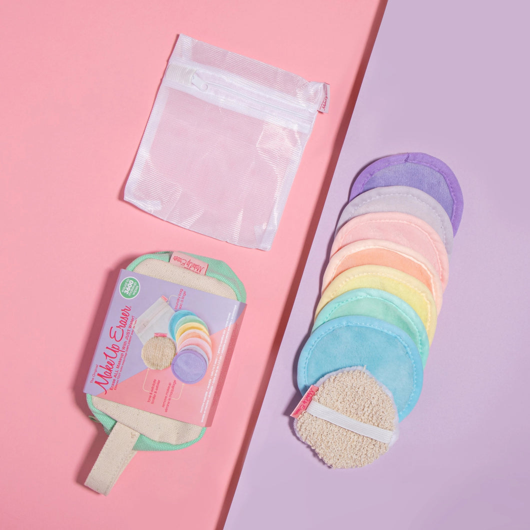 Makeup Eraser Pastel 7-Day Set + Exfoliater Puff