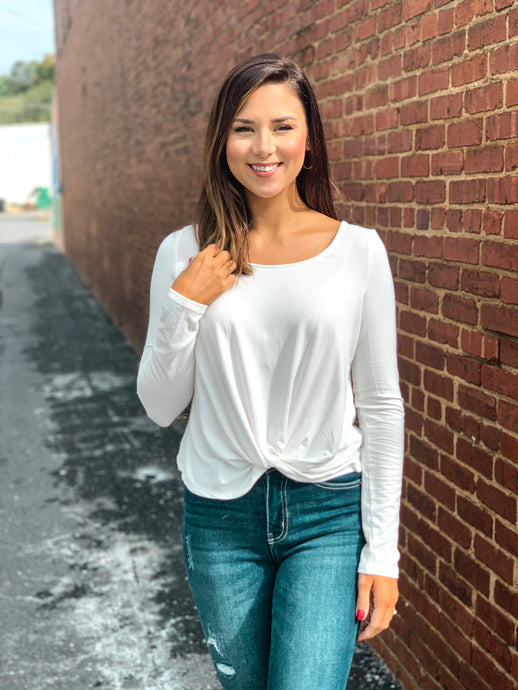 Fall favorite front knot top