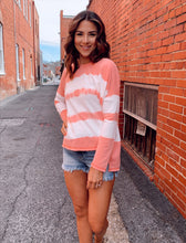 Load image into Gallery viewer, Striped Tie Dye Pullover