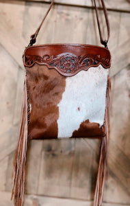 Myra Cowboy Hand-Tooled Bag