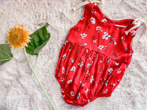 Baileys Beatrice red poppy romper