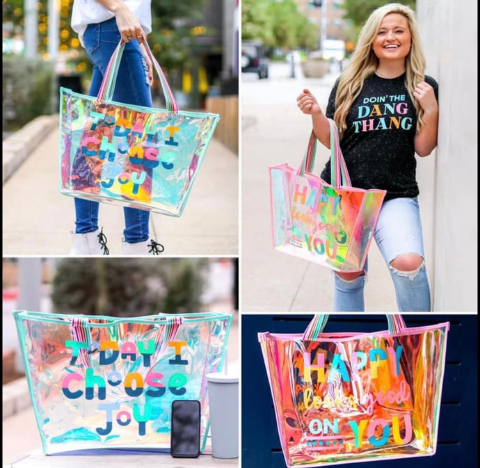 Iridescent Beach Totes