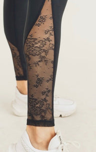 Floral Lace Mesh Leggings