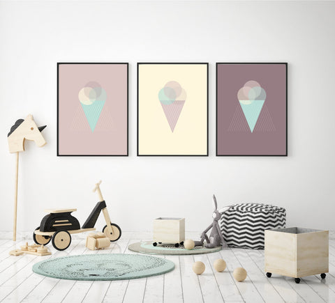 "Poster ""Lilly's icecream"" A4"