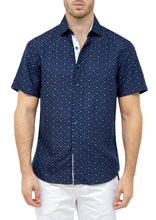 Load image into Gallery viewer, bc-172175-navy-button-up-short-sleeve-dress-shirt