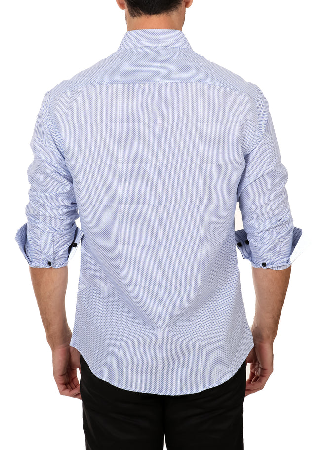 192300 - Light Blue Button Up Long Sleeve Dress Shirt