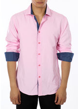 192318 - Pink Button Up Long Sleeve Dress Shirt