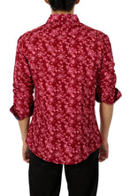 Load image into Gallery viewer, 192361 - Red Button Up Long Sleeve Dress Shirt