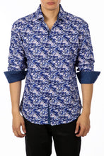 Load image into Gallery viewer, 192364 - Blue Button Up Long Sleeve Dress Shirt