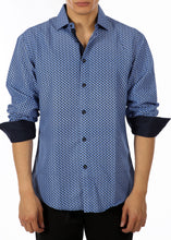 Load image into Gallery viewer, 192371 - Blue Button Up Long Sleeve Dress Shirt