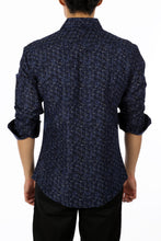 Load image into Gallery viewer, 192374 - Navy Button Up Long Sleeve Dress Shirt