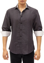 Load image into Gallery viewer, 192376 - Black Button Up Long Sleeve Dress Shirt