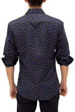 Load image into Gallery viewer, 192383 - Navy Button Up Long Sleeve Dress Shirt