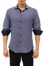 Load image into Gallery viewer, 192385 - Navy Button Up Long Sleeve Dress Shirt