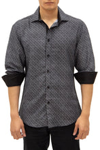 Load image into Gallery viewer, 192386 - Black Button Up Long Sleeve Dress Shirt