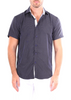 202040 - Navy Button Up Short Sleeve Dress Shirt