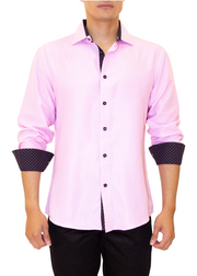 202333 - Pink Button Up Long Sleeve Dress Shirt