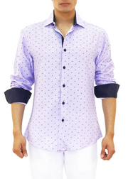 202346 - Lilac Button Up Long Sleeve Dress Shirt