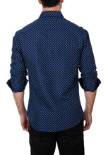 Load image into Gallery viewer, 182397 - Blue Button Up Long Sleeve Dress Shirt