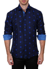 192305 - Royale Blue Button Up Long Sleeve Dress Shirt