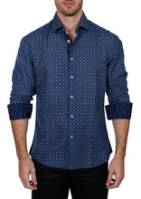 Load image into Gallery viewer, 192308 - Navy Button Up Long Sleeve Dress Shirt