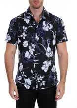 Load image into Gallery viewer, 192023 Navy Button Up Short Sleeve Dress Shirt