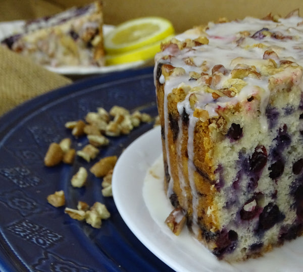 Blueberry Pecan Pound Cake