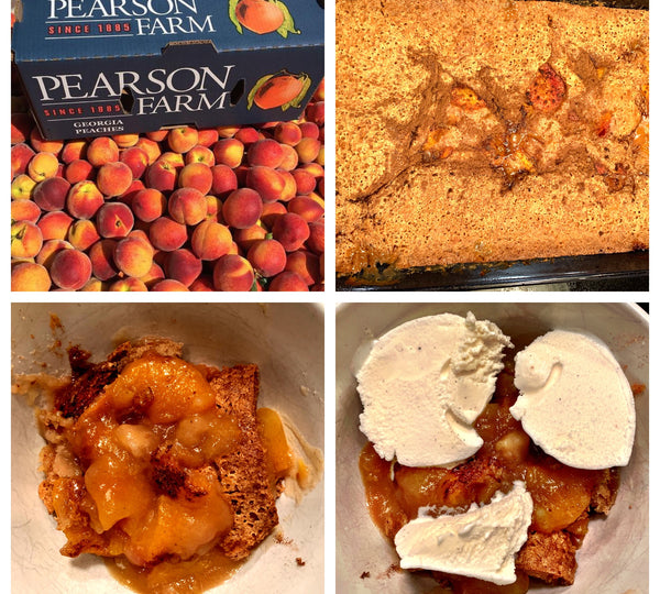 Ginger Cinnamon Peach Cobbler