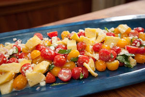 Peach, Tomato and Feta Salad