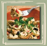 Georgia Peach Tortellini Salad with Basil Peach Vinaigrette