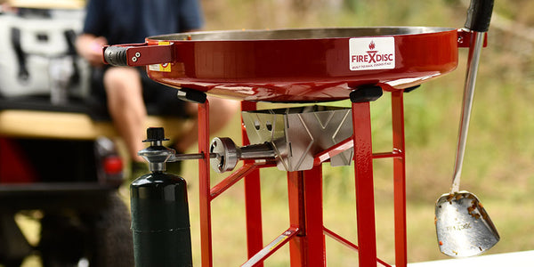 The Original FIREDISC® –  Portable Propane Cooker in Brick Red