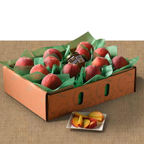 Gift Box of 12 Peaches with Preserves