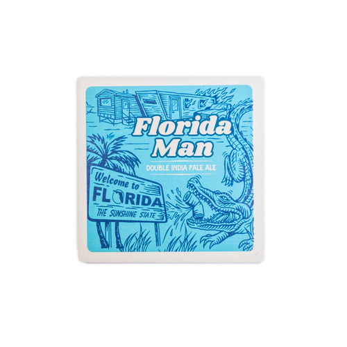 Florida Man Stone Coaster