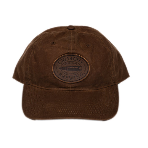 Waxed Leather Patch Hat