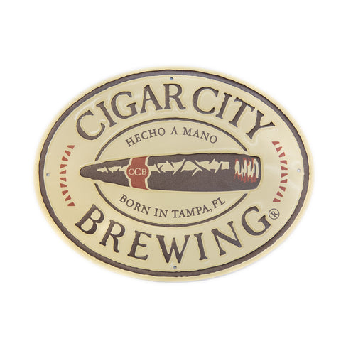 Cigar City Brewing Oval Tin Tacker