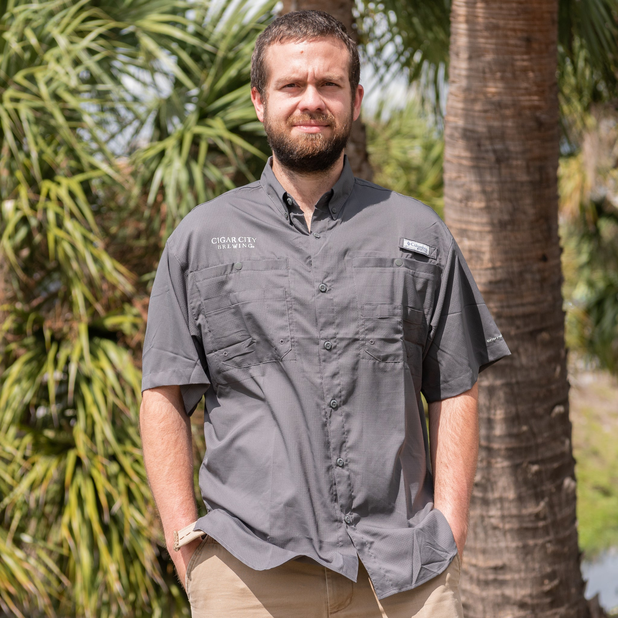 Charcoal Columbia Tamiami Shirt