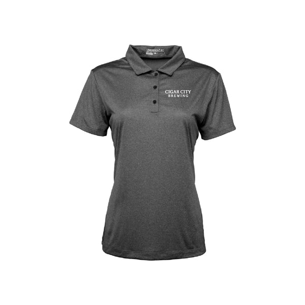 Ladies Nike Dri Fit Polo in black heather