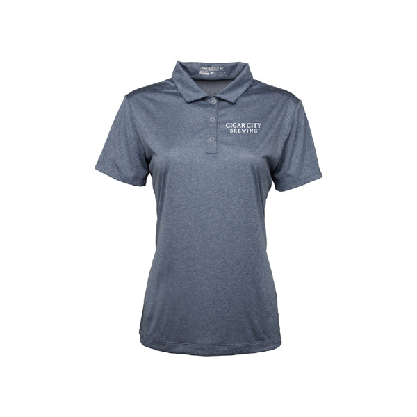 Ladies Nike Dri Fit Polo in monsoon heather