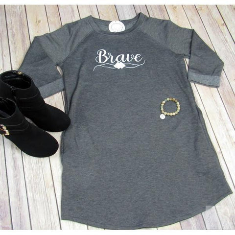 BRAVE- RAGLAN DRESS-Heaven Invading Earth, LLC