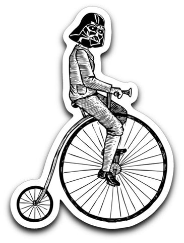 Vader on a Bike Decal