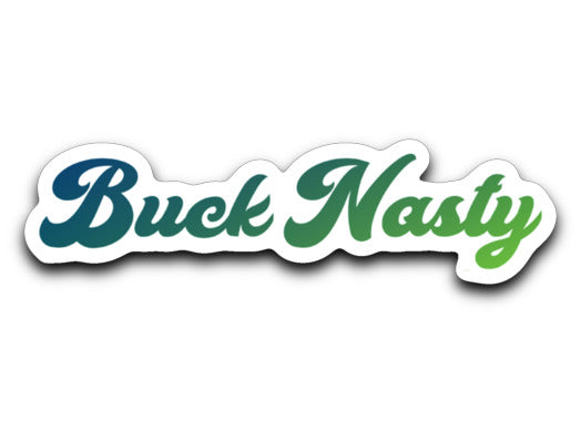 Buck Nasty Logos Decal in Rainbow, Black & Multi-Colors