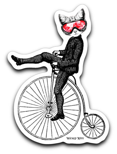 Wicked Kitty on Bike Decal