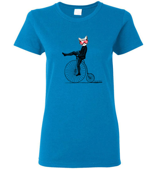 Wicked Kitty on a Bike - Women's