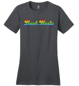 Buck Nasty Rainbow Logo - Women's