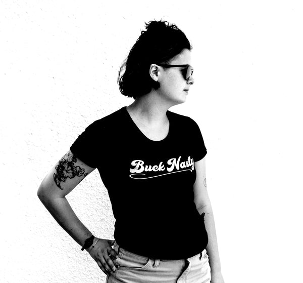 Buck Nasty Gray Logo - Women's Short Sleeve