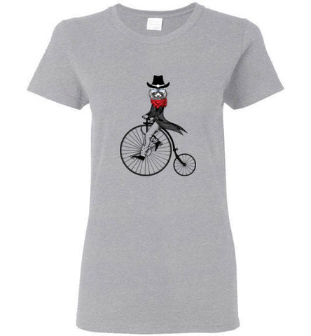 Raccoon on Bike - Women's