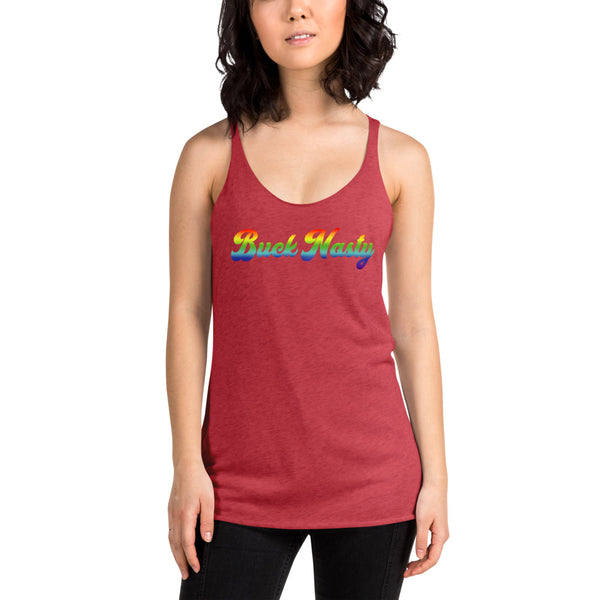 Buck Nasty Rainbow Women's Racerback Tank