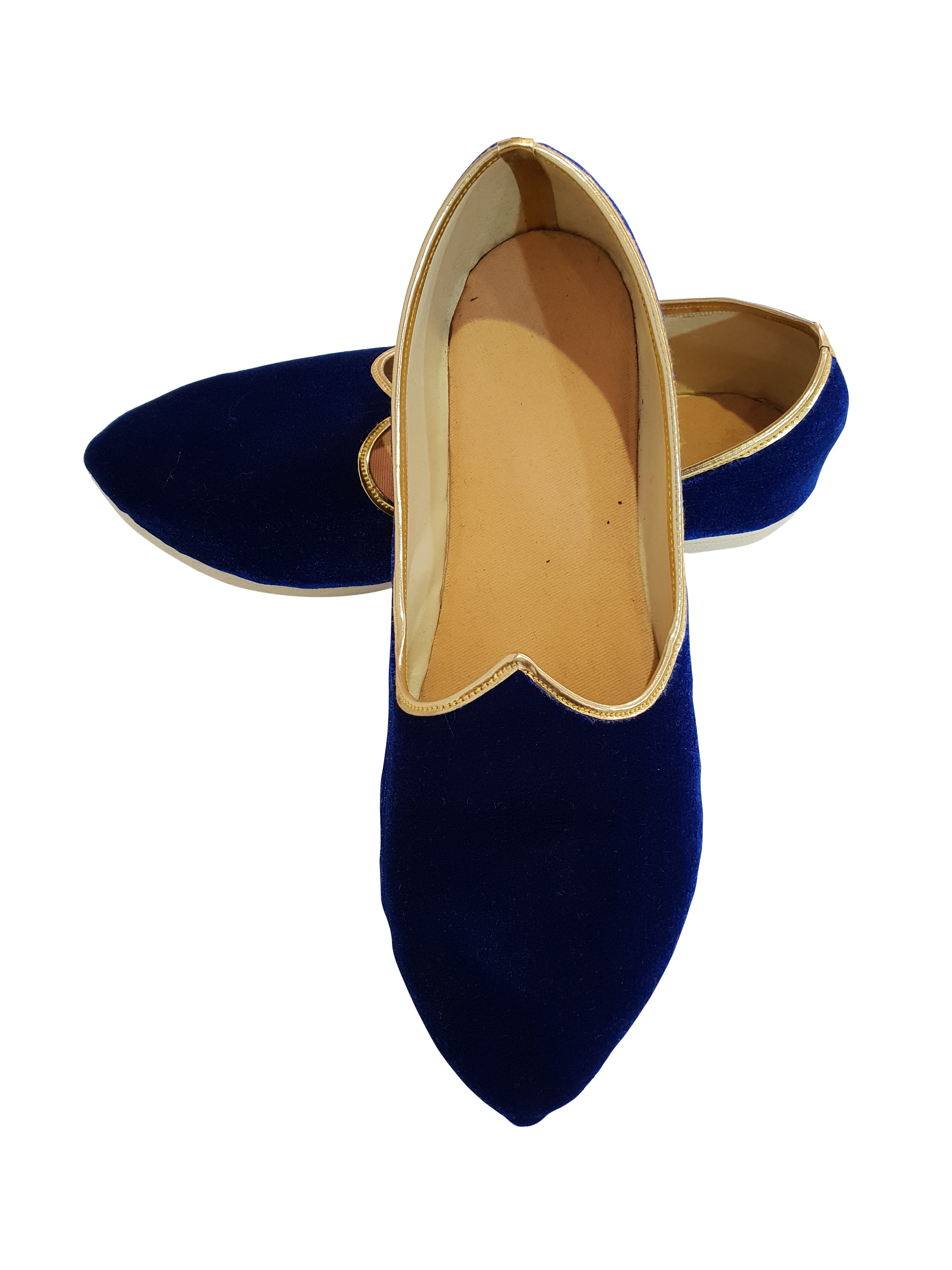 Royal Blue Velvet Shoes